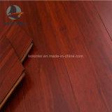 Suelo de bambú tejido hilo de interior rojo del uso de la fortuna (color del satén)