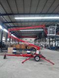 Levage hydraulique de plate-forme d'accès diplômée par CE de travail aérien