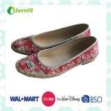 Design de impressão bonito com PE Sole, Women's Canvas Shoes