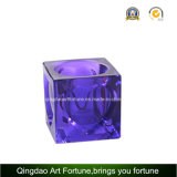Suporte de vidro colorido de Tealight do cubo