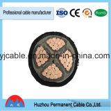 Cordon de câble d'alimentation de conducteur isolé par XLPE d'en cuivre de jupe de Yjv/Yjlv/Yjv22/Yjv22 PVC/XLPE