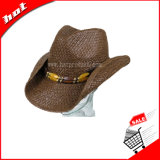 Sombrero de vaquero de papel de la paja de 2017 maneras