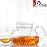 teiera di fioritura di Borosilicate 500ml del fiore termoresistente di vetro/creatore di tè di vetro/caldaia di tè di vetro