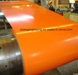 Le dessus Side17-25micron a enduit le moulin d'une première couche de peinture direct galvanisé de bobine en acier de Steel/PPGI