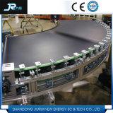Transporte de correia branco do PVC do produto comestível para o alimento industrial