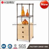 Patent-moderne Hauptküche-Stahl-Hölzerne Speicher-Möbel-Zahnstange