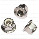 Nylon Plaats Hex Flens Lock Nut Flens Nylon Lock Hex Nylon Borgmoer