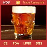 Vidrio barato al por mayor de Stein de la cerveza de la condenación del cráneo del estaño