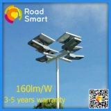 Luz de rua do jardim da estrada do diodo emissor de luz com o painel solar ajustável de 360 graus