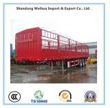 3 de Semi Aanhangwagen van het Vervoer van het Vee van de Aanhangwagen van de Staak van de Lading stortgoed van assen voor Verkoop