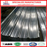 Folha de aço revestida da telhadura do zinco de alumínio ondulado