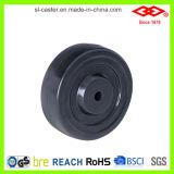 125mm harter Gummi-örtlich festgelegte Platten-industrielle Fußrolle (D102-53B125X32)