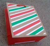 Streifen-Entwurfs-Drucken-Geschenk-verpackender Papierbeutel