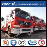 Coche de bomberos de HOWO 4*2 con 3 clases que dispensan los materiales (agua, espuma, polvo)
