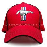 Casquette de baseball de golf de sergé de sandwich à broderie d'emblème en métal (TRB023)
