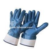 Zweimal eingetauchter Öl-Beweis-Nitril-Handschuh-Sicherheits-industrielle Arbeits-Handschuh