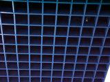 معلنة سقف. مثال لأنّ ألومنيوم زرقاء لون مصبّع سقف