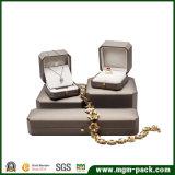 Caixa de jóia plástica de couro Octagonal do plutônio