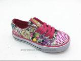El caucho hermoso embroma los zapatos con la punta de los cristales (ET-LH160290K)