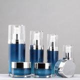 Vaso e bottiglia crema impaccanti cosmetici acrilici di plastica di qualità superiore ovali del contenitore