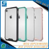 Caja clara al por mayor cristalina híbrida del teléfono de Transpatent para el iPhone 8
