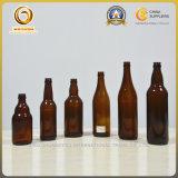 De aangepaste Gedrongen AmberFles van het Bier 330ml met de Bovenkant van de Kroon (502)