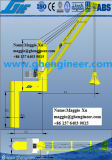 grue hydraulique mécanique de paquet de chaland d'encavateur des cordes 40t quatre