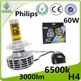 Самая лучшая фара луча 60W G6 СИД Philips H4 H/L сбывания