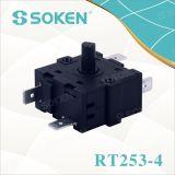 Commutatore rotante multi posizione con 16A 250VAC (RT253-4)