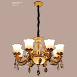 luz de cristal moderna do candelabro da lâmpada do dispositivo elétrico de iluminação do pendente da decoração de Swarovski dos braços de pH-0642z 8