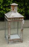 Lanterna decorativa del giardino del metallo nel colore di Antiwhite