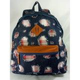 Backpack способа сделанный напечатанным хлопком