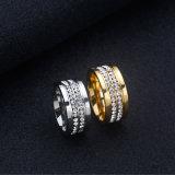 Anel de casamento novo do acoplamento do aço inoxidável do estilo na jóia da forma