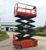 10m, Platform van de Lift van de Schaar van 12m het Gemotoriseerde Elektrische
