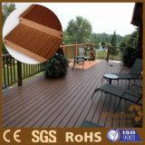 Decking al aire libre compuesto plástico de madera Anti-ULTRAVIOLETA del material de construcción WPC