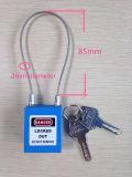 8つのカラー鋼鉄ケーブルの手錠のパッドロックはカスタマイズされたロゴを受け入れる