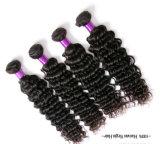 Capelli indiani di Remy dei capelli umani di estensione del Virgin all'ingrosso riccio profondo non trattato dell'onda, capelli brasiliani, capelli mongoli, capelli malesi