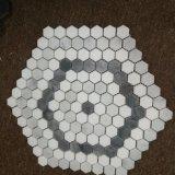 백색 육각형 혼합 회백질 대리석 모자이크 타일