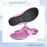 Chine Pink Color Ladies Flip Flops, Leisure Design Ladies Flip Flops