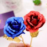 Goldfolie Rose für Valentinsgruß oder Hochzeit