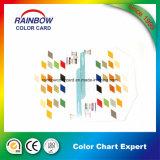 Varia dimensión de una variable de la impresión del libro para la tarjeta de la carta de color de Emulison