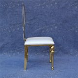 Luxury Gold Wedding Stainless Steel Legs Dining Chair (YC - ZS39)