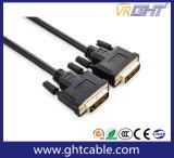 Chaqueta de PVC de alta velocidad del soporte 1080P/2160p DVI al cable de DVI