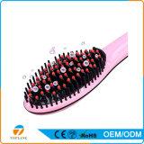 CE certificado plancha para el pelo con el LCD del cepillo de cerámica para alisar el cabello