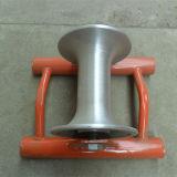 Venta caliente recta rueda de polea de cable de línea, rodillo de cable de acero