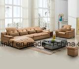 Sofá Home moderno do canto da sala de visitas do couro da mobília (UL-NS003)
