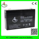 6V 7ah nachladbare Mf Leitungskabel-Säure-Batterie für Warnungssystem