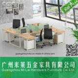 Muebles de oficinas del vector moderno del personal de la buena calidad con el pie del escritorio del acero inoxidable