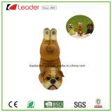 Het nieuwe Standbeeld van de Nieuwigheid van het Beeldje van de Hond van de Yoga, Bruine Kleur Balck voor Huis en de Decoratie van de Tuin