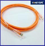 Kat 6 van de Kabel van Ethernet CAT6 3FT de Kabel van het Flard van het Netwerk met RJ45 Schakelaars - 1m Sinaasappel